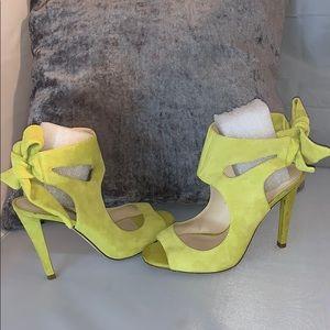 ZARA WOMAN Lime green color heel open toe shoes 40